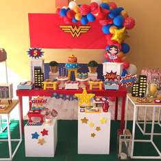 Wonder woman birthday party - Wonder woman