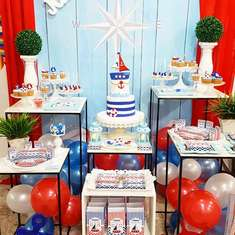 Nautical 1st birthday party - Nautical