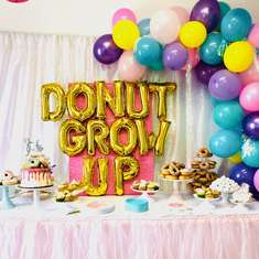 Donut Grow Up 5th Birthday Party - Donuts