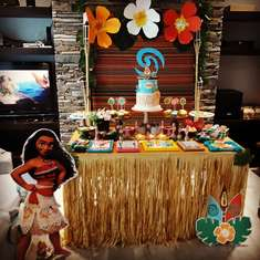 Moana Birthday party - Moana para Amalia