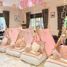 Ruby's birthday Sleepover  - Rose Gold, Pink and White