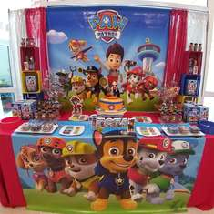 Lucas Paw Patrol 4th birthday party - Paw Patrol
