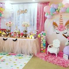 Mia's Unicorn party  - Unicor first birthday