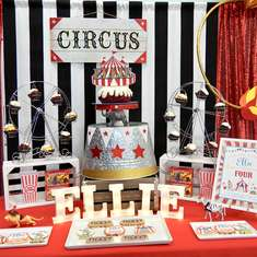 Come one, Come All!  The Greatest Ellie is turning 4!  - Circus / Carnival