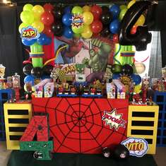 Vito's SUperhero party - Superheroes