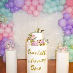 Scarlett's first birthday  - Pastel Colors/ enchanted forest