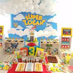 Super Logan birthday party  - Super wings