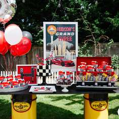 Race on Over to this Modern 'Grand Three' Race Car Birthday! - race car