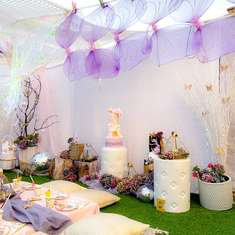 Lilac Enchanted Fairy Garden Party - Fairies
