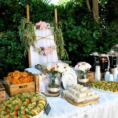 Boho chic buffet for Ariadne's baptism party  - Boho Chic