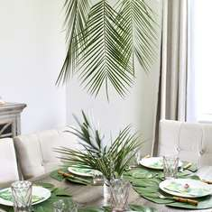 Tropical Palm Tablescape - Palms