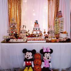 Minnie Mouse 3rd Birthday Party - Fall Minnie Mouse