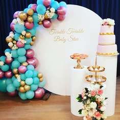 Twinkl Twinkle Baby Star - round backdrop