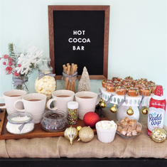 DIY Christmas Hot Cocoa Bar - Christmas