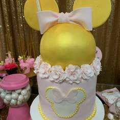 Pink and gold Chanel Minnie Mouse  - Minnie mouse 1st birthday