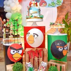 Angry Bird birthday party - Angry Bird