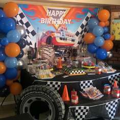 Carter's Hot wheels party - Hot wheels