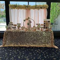 Floral Rose Gold Bridal Shower  - Rose gold