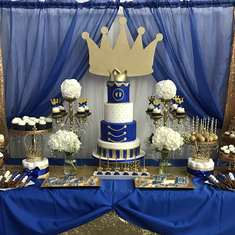 Royal Blue Baby Shower  - Royalty Baby shower
