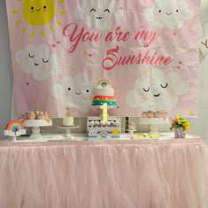 Adela's Sunshine and Rainbows Birthday Party - You are my Sunshine