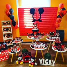 Minnie Mouse birthday party - Minnie para Vicky