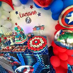 Luciano's Capitán America Birthday party - Captain America