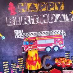 Fireman 3rd Birthday Boy - Fireman Firefighter