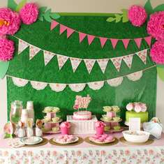 Pink Floral Baby Shower - Baby Shower