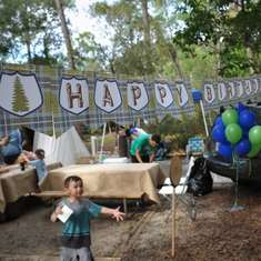 Camping Birthday Party - Camping