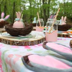 Some Bunny's 1st Birthday  - Pastel Enchanted Forest