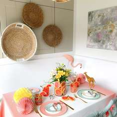 Chic Animal Fair Tablescape - Zoo Animals