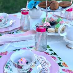 Kayla's outdoor  tea party  - Spring