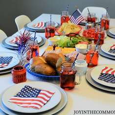 4th of July Tablescape - 4th of July