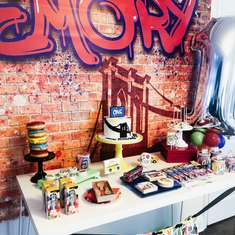Emory's Dope 1st Birthday Party! - Graffiti New York/Brooklyn Theme