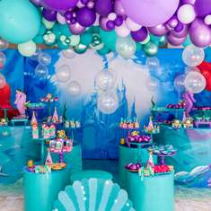 Little Mermaid birthday party - Little mermaid