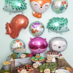 Woodland Animals Birthday Party - Woodland