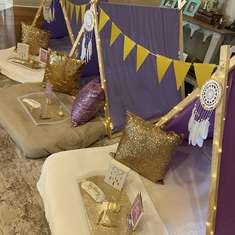 Kennedy's Purple & Gold SPA-tacular Sleepover  - Purple & Gold With Pamper Me Pretty Add On
