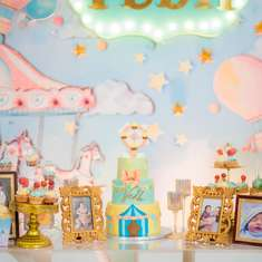 Pastel Powder Blue Carousel Party - Carousel
