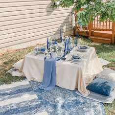 Boho Blue Dinner Party - Boho Chic