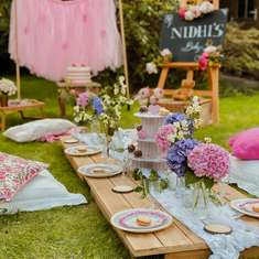 Pink baby shower picnic - Pink picnic