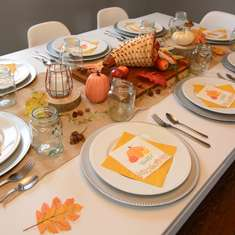 Rustic Thanksgiving Tablescape - Thanksgiving