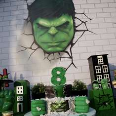 Hulk Birthday Party - Hulk