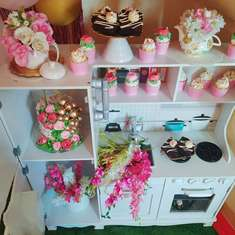 Zhen's Shabby Chic 1st birthday party - On Pinks and Chrome Chic Styling