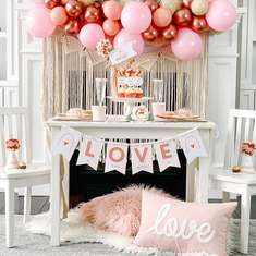 Boho Rainbow Valentine's Day Party - Boho