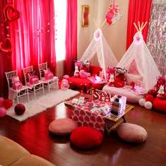 Valentine Day Teepee Party - Valentine Day Spa Sleepover