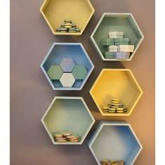 Hexagon Christening - Hexagon Symmetry with Pastel Colors
