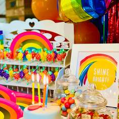 Shine Bright Rainbow Party - Rainbow