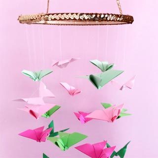 Butterfly-origami-chandelier-diy