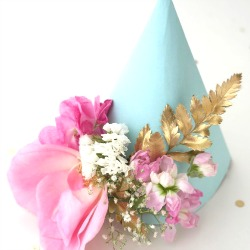 Floral-party-hat-diy