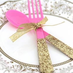 Glittered-utensils-diy
